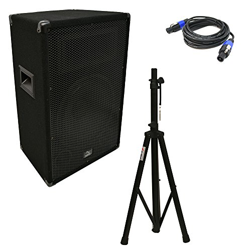 Harmony Audio HA-V12P DJ 12'' Passive 450W PA Speaker Speakon Cables & Stand New by Harmony Audio