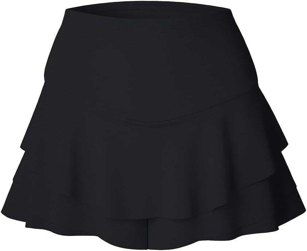 XFentech Mujer Tenis Deporte Fitness Irregular Aptitud Skorts Falda Pantal/ón Corto
