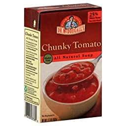 Dr. McDougall\'s Right Foods Chunky Tomato Soup, 17.7-Ounce Boxes (Pack of 6)