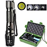 sacredfire CREE T6 5-Mode LED Lamp Light Rechargeable Zoomable Flashlight Torch Free 18650 Battery+Charge