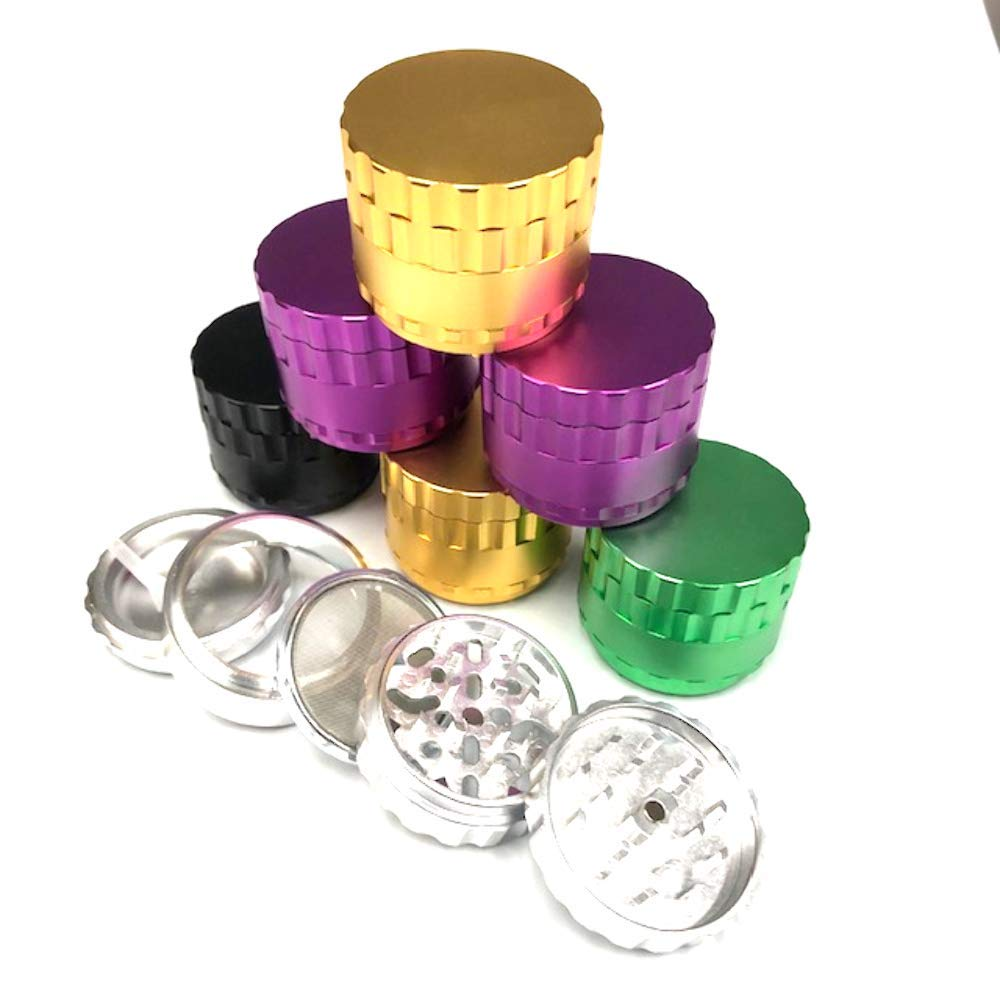 51mm 4pc Aluminum Grinder w/Removable Screen