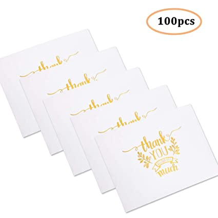 Tarjetas de agradecimiento - Juego de 100 notas de agradecimiento ...