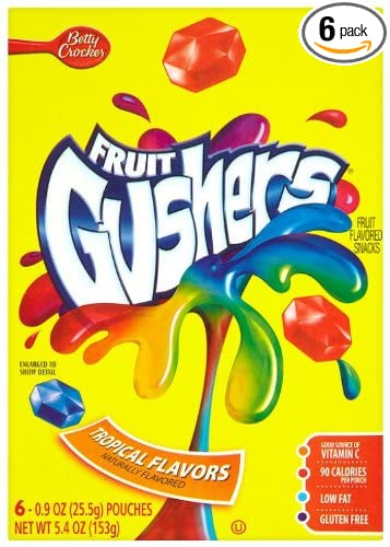 Fruit Gushers - Juego de 6 aperitivos con sabor a frutas ...