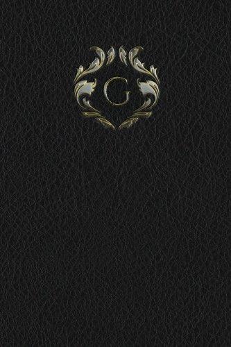 """Read Online Monogram """"G"""" Blank Book (Monogram Black 150 Blank) (Volume 7) ebook"""