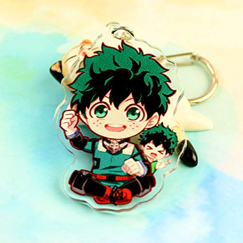 (Raleighsee My Hero Academia Animation Around Cartoon Acrylic Keychain Collectible Key Ring Bag Novelty Accessory Anime Cartoon Pendant Anime Fans Gift( H01))