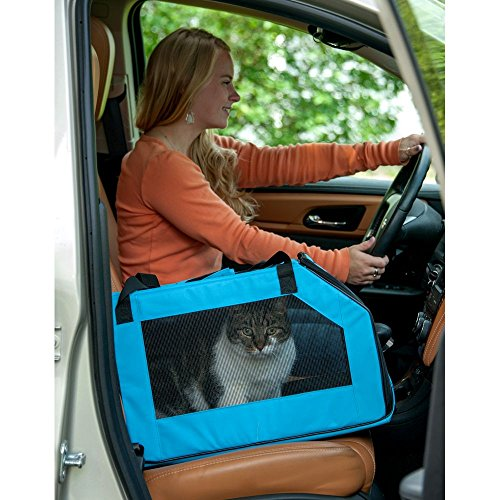 Pet Gear Signature Car Seat And Carrier For Cats Dogs Up To 20 Pounds Aqua Amazonca Supplies