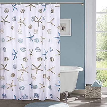 TIB® PVC Waterproof Designer 7 feet Shower Curtain (1 Pcs)
