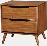 Furniture of America CM7386A-N Lennart Oak Nightstands, 24″ H