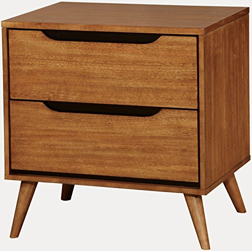 Solid Oak Bedside Table (Furniture of America CM7386A-N Lennart Oak Nightstand, 24
