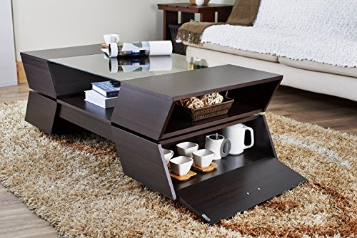 Iohomes annika ultra modern glass top coffee table for Coffee tables uae