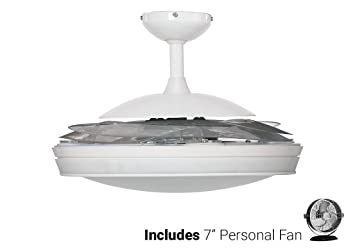 Hunter ceiling fan white 59086 fanaway 48 with light remote hunter ceiling fan white 59086 fanaway 48quot with light remote white desk aloadofball Choice Image