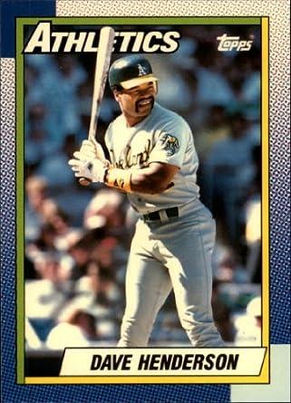 Amazoncom 1990 Topps Tiffany Baseball Card 68 Dave Henderson Near