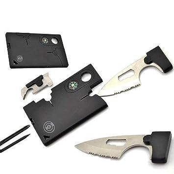 Rateful 10 en 1 Tarjeta de Cuchillo Herramienta Multifuncional de combinación Herramienta de Espada al Aire Libre Tarjeta de Ahorro de Vida