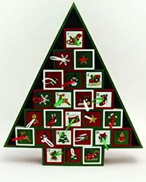 Christmas Wooden 'Tree' Advent Calendar (With 24 Drawers) by SGH ...