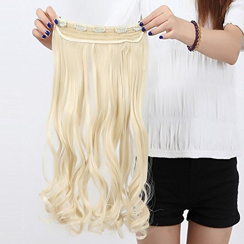 Clip in/on Hair Extension 5 Clips One Piece Full Head Hairpiece Synthetic Heat-Resistant Hair For Party/Halloween For Women Girls Teen(27
