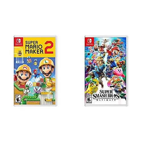 Super Mario Maker 2 – Nintendo Switch Bundle with Super Smash Bros. Ultimate