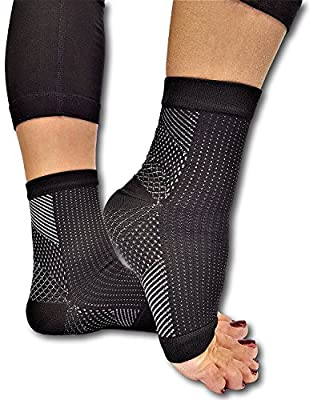 Lumenon 2 pairs Plantar Fasciitis Socks with Arch Support Eases Swelling & Heel Spurs, Ankle Brace Support, Increases Circulation, Relieve Pain Fast