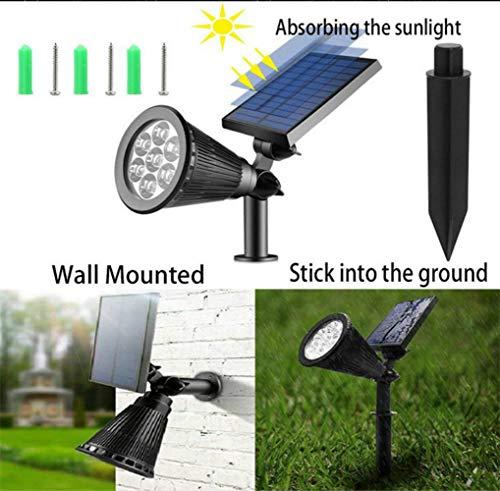 Appreciis LED Spotlights Outdoor Solar Lights Color Spot Garden Landscape Spotlights Sensing Auto On/Off Up Lights for Lawn Changing