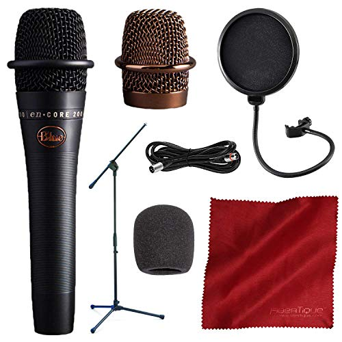 - BLUE Encore 200 Studio Grade Phantom Powered Active Dynamic Microphone, Black with Mic Boom Stand and Deluxe Accessory Bundle