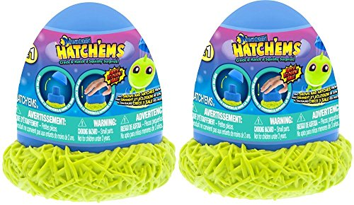Set of 2 Mashems Hatchems Figures - Crack And Hatch A Squishy Surprise Manufacturer: Hatchems Mashems