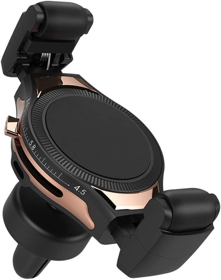 Sszz Adjustable Arm Luft Outlet Wireless Charging Auto Phone Holder, Navigation Bracket Compatible mit Iphone Samsung Google und More,Gold