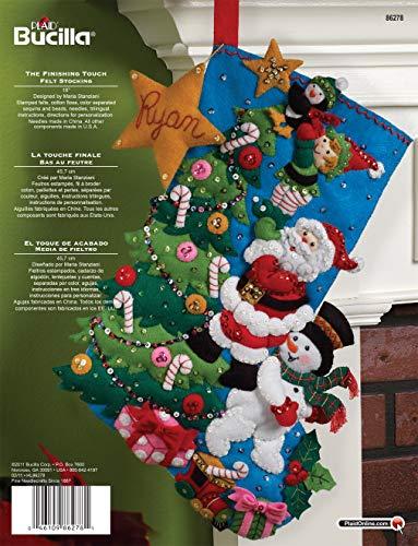 Bucilla 18-Inch Christmas Stocking Felt Applique Kit