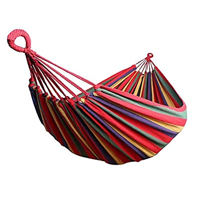 BODFY Hammock Camping Double & Single with Tree Straps - Hammocks for Indoor Outdoor Backpacking Survival & Travel, Portable : Garden & Outdoor