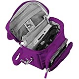 Orzly Travel Bag for Nintendo DS Consoles (New 2DS XL / 3DS / 3DS XL/New 3DS / New 3DS XL/Original DS/DS Lite/DSi/etc.) - Includes Belt Loop, Carry Handle, Shoulder Strap - Purple