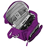 Orzly Travel Bag for Nintendo DS Consoles (New 2DS XL / 3DS / 3DS XL / New 3DS / New 3DS XL / Original DS / DS Lite / DSi / etc.) - Includes Belt Loop, Carry Handle, Shoulder Strap - PURPLE