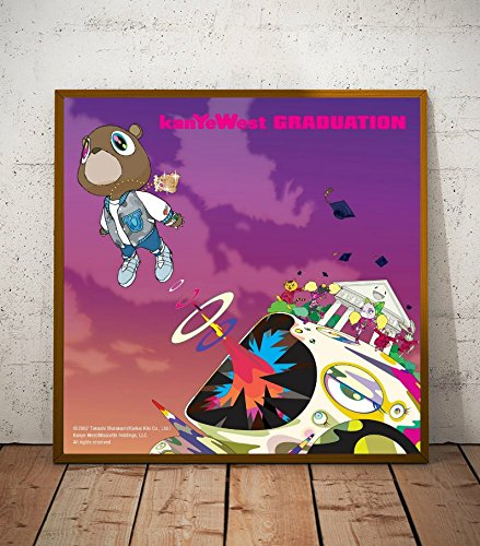 Kanye West Graduation Album Limited Poster Artwork - Professional Wall Art Merchandise (More Sizes Available) (8x8)