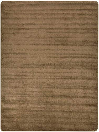 Euro Collection Solid Color Area Rug Rugs Slip Skid Resistant Rubber Backing Machine Washable More Color Options (Beige, 3