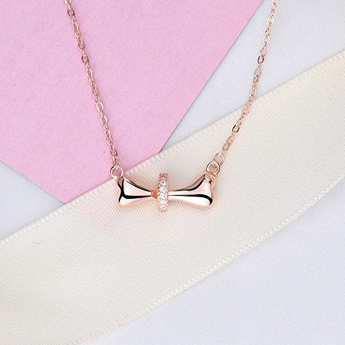 Luziang Necklace Pendant,Spongebob Bone Necklace Female Clavicle Chain s925 Sterling Silver Dog -