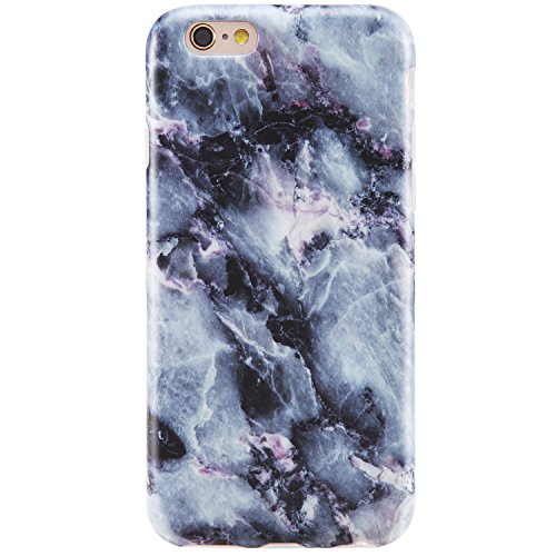 iPhone 6 Case, iPhone 6s Case,VIVIBIN Cute Blue Marble for Men Women Girls Clear Bumper Best Protective Soft Silicone Rubber Matte TPU Cover Slim Fit Phone Case for iPhone 6/iPhone 6s