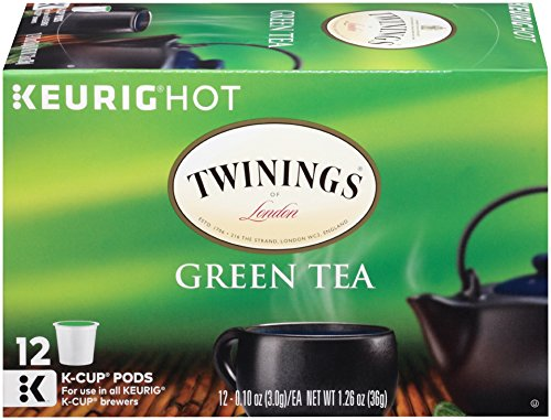 Twinings of London K-Cup Portion Pack for Keurig K-Cup Brewers Green Tea,  (Pack of 6)