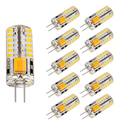 Bogao 10pcs Set G4 48 SMD LED Warm White 220LM Light Crystal Bulb Lamps 3 Watt AC / DC 12V Equivalent to 20W Incandescent Bulb Replacement Halogen Bulbs - Ac 12v Incandescent Lamp