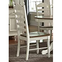 Liberty Furniture Springfield Ladder Back Dining Side Chair in Cream