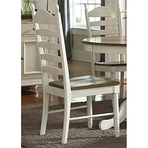 Liberty Furniture Springfield Ladder Back Dining Side Chair in Cream (Chair Ladder Back History)