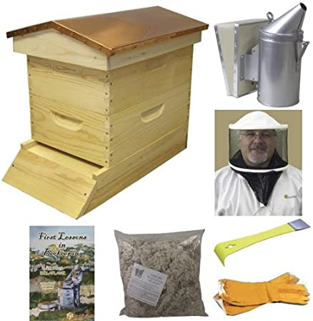 . START SAVING BEES NOW Beekeeping Starter Kit with Assembled 10 Frame Beehive