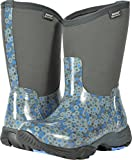 Bogs Women's Daisy Multiflower Work Boot, Dark Gray Multi, 9 M US