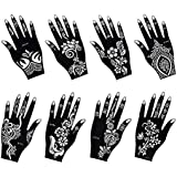 photo relating to Henna Templates Printable known as : Stencils for Henna Tattoos (10 Sheets) Self
