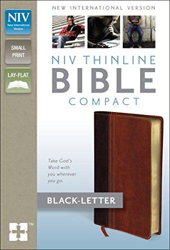 NIV, Thinline Bible, Compact, Imitation Leather, Brown/Tan