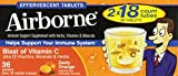 Airborne Effervescent Health Immune Boosting Formula Zesty Orange 36 Tablets (Bonus Size) Review