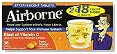 Airborne Effervescent Health Immune Boosting Formula Zesty Orange 36 Tablets (Bonus Size)