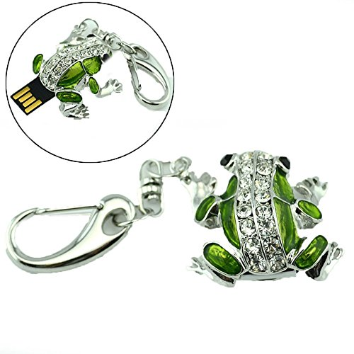 [Elegant Crystal Frog Keyring Drive USB 2.0 8GB Memory Flash Disk For keychain] (Halloween Ideas For Couples)