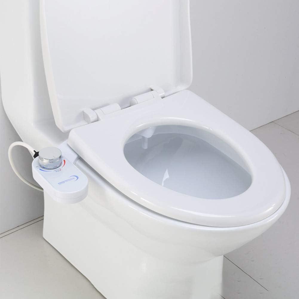 Frischwasserspray Nicht elektrischer mechanischer Bidet-Toilettensitzaufsatz Sweet48 Home Bidet selbstreinigende und einziehbare D/üse