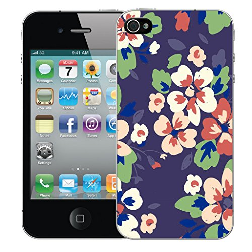 Mobile Case Mate iPhone 4s Silicone Coque couverture case cover Pare-chocs + STYLET - Blossom pattern (SILICON)