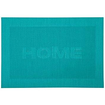 Platzset Tischset Home Petrol Blau 43x29cm Kunststoff Kesper
