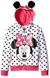 Disney Big Girls' Minnie Hoodie with Bow and Ear, White, Medium/8/10
