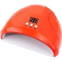 Lurrose 36W Gel UV LED Nail Lamp Auto Sensor Nail Dryers Professional Salon Gel Nail Polish Curing Lamp (Red)