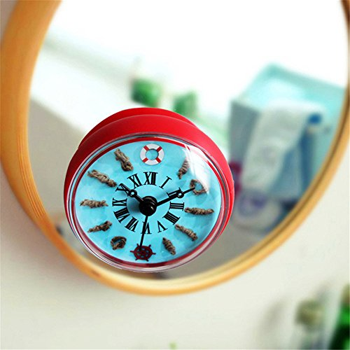 Imoerjia  Creative Life Preserver Bathroom Clock Fridge Clock Kitchen Clock Water Clock Suction Clock Wall Clock Table 88Cm,B/88Cm